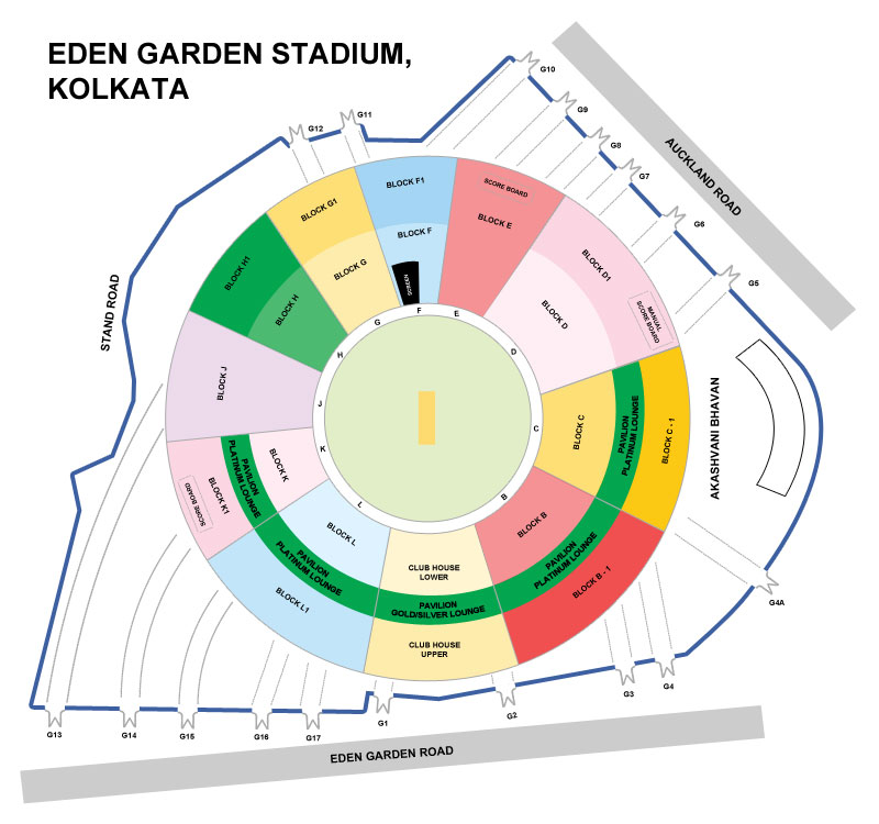 Eden Gardens Seating Arrangement Kolkata