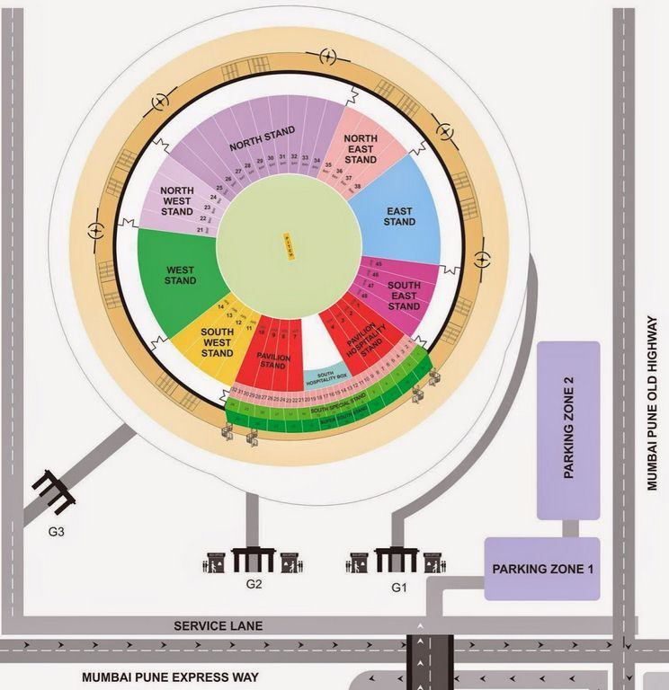 Pune Stadium Layout and Seating Arrangements